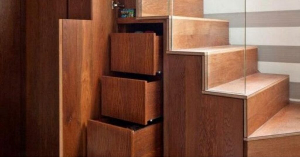 How do I put drawers under stairs?