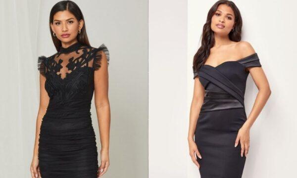 Skin tight black dresses for women